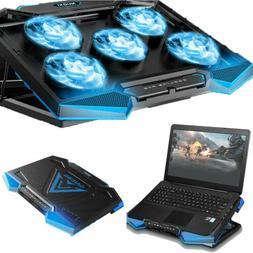 11-17 inch Laptop Cooling Pad 5 Fans Gaming Notebook Cooler