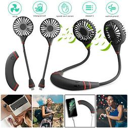 3in1 Removable Neckband Fan USB Charge Neck Hanging Dual Coo