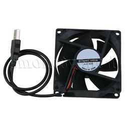 80mm Fan USB Powered Silent Computer Case Cooling Fan for PC