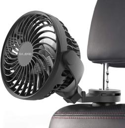 Car Fan with Strong Clamp USB Electric Fans, Rotatable  Clip