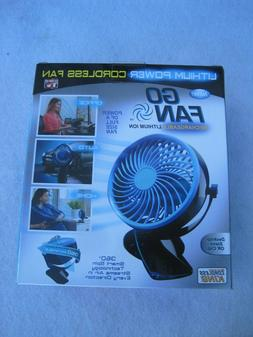 GO FAN. Lithium Ion Cordless Fan. Rechargeable As seen on TV