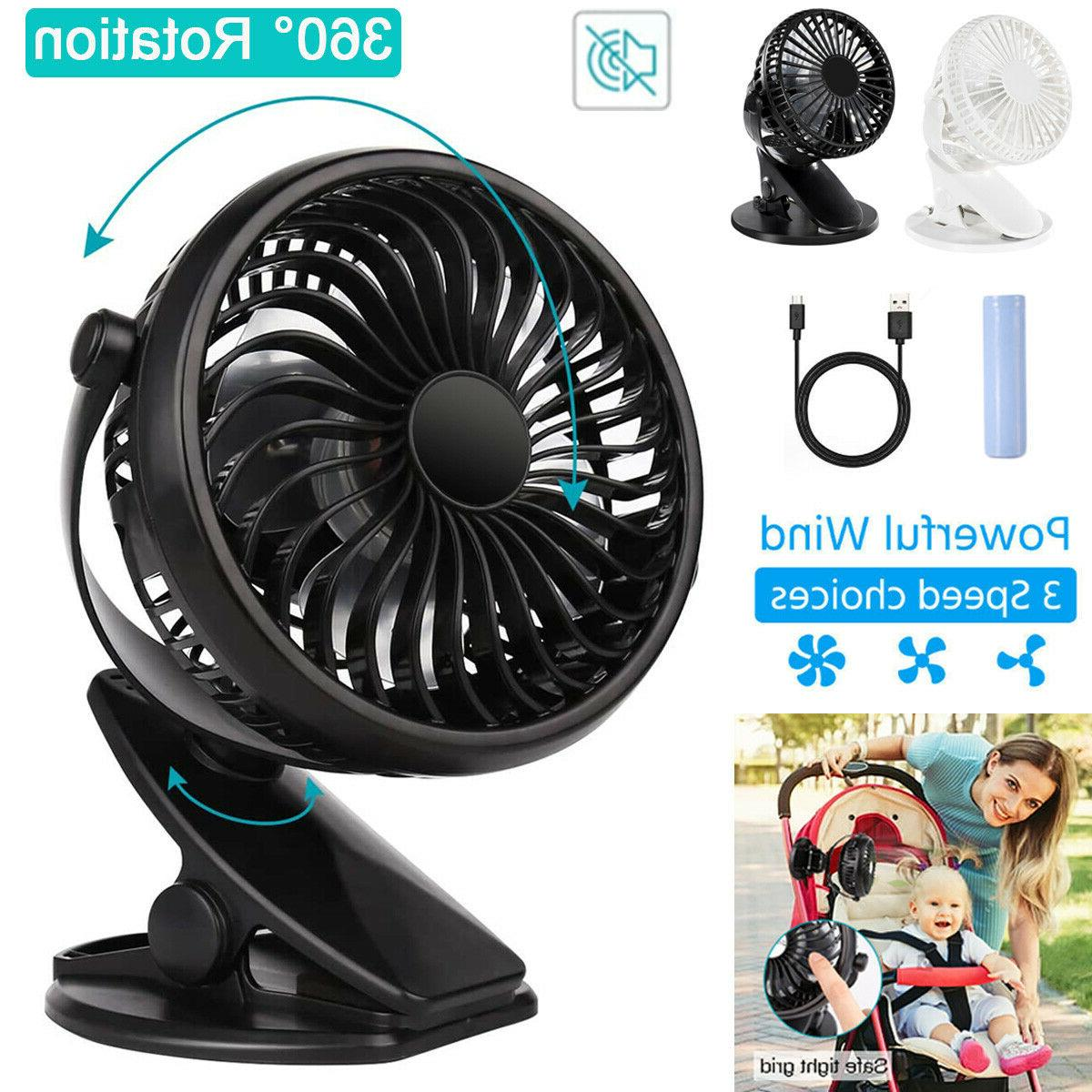 3 speeds usb rechargeable mini cooling fan