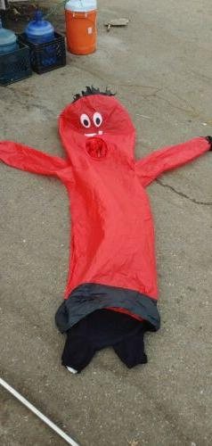 """6"""" RED Funny Adult Size Inflatable Full Body Jumpsuit Costum"""