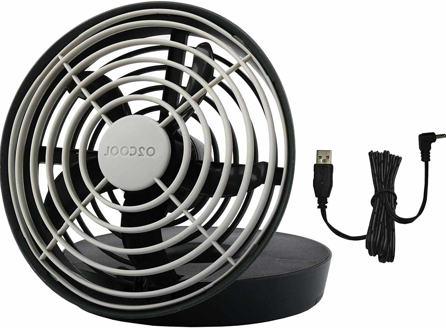 O2COOL Portable or Batteries Speed Table Fan, Gray, BRAND NEW