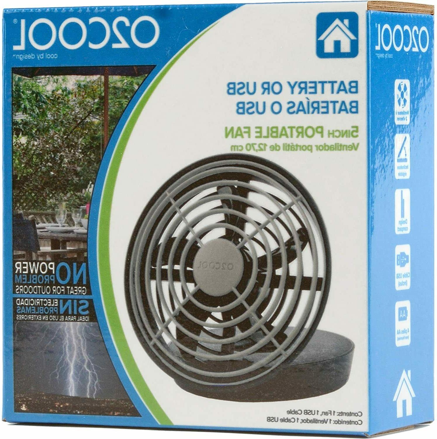 """O2COOL 5"""" USB or Powered Speed Fan, BRAND NEW"""