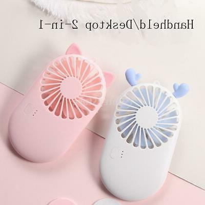 small portable fan speed adjustable mini personal