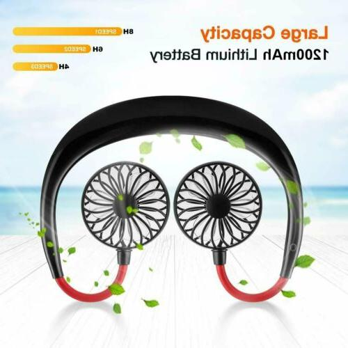 summer portable rechargeable neckband neck hanging style