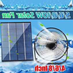 """Mini 8"""" USB Iron Fan For 6W Powered Solar Panel Outdoor Home"""