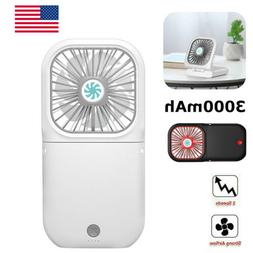 Mini Desk Fan Cooler USB Strong Powered Portable Quiet Offic