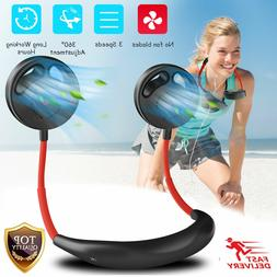 Mini No Fan Blades Neckband Fans USB Rechargeable Neck Hangi