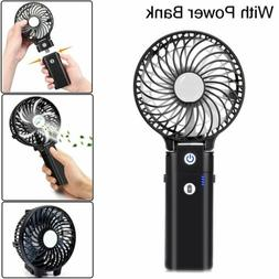 Mini Portable Fan Rechargeable with Power Bank 5200 mAh USB