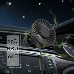 New 360° Rotation 3-Speed Adjustable USB Fan for Car A/C Ve