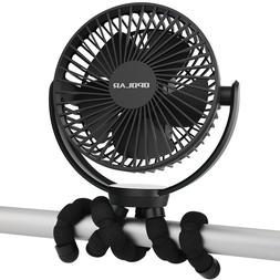 New 5000mAh Rechargeable Battery Powered Clip Fan,Personal P