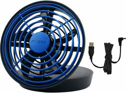 """O2COOL 5"""" Portable USB or Batteries Powered 2 Speed Table Fa"""