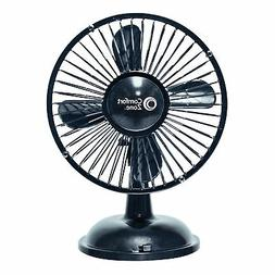 NEW Comfort Zone Oscillating Desk Fan Black FREE SHIPPING