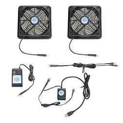 Plasma & LCD TV cooling fans, with USB-control & multispeed