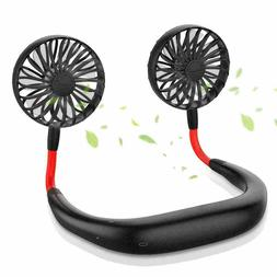 Portable Hanging Neck Sport Fan Lazy Neckband USB Rechargeab