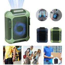 Quiet Rechargeable Mini Hanging Waist Fan With Power Bank an