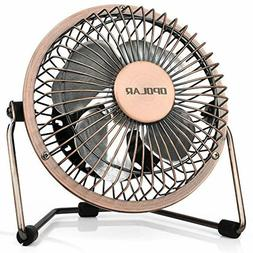 Small Desk Fan, Ultra-Quiet Design, with 360 Rotation Portab