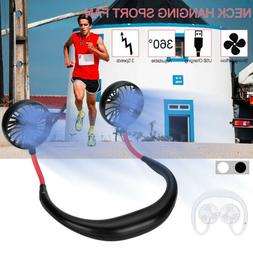 Summer Neckband Double Fan Mini USB Portable Handsfree Sport