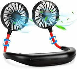 US Portable Fan Hand Free Small Personal Mini USB Fan Rechar