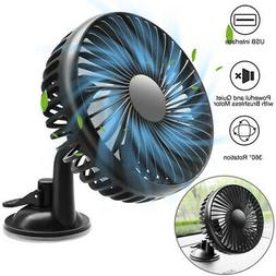 4.5Inches Car Fan 12V 24V Suction Cup Large Wind Three Speed