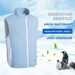 USB Cooling Vest Air Conditioning Clothes Smart Fan for Outd