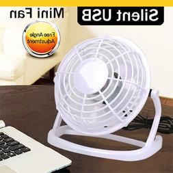 USB Small Fan Desk Personal Table Cooling Electric Adjustabl