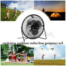 USB Solar Panel Iron Fan Powered 3W 6V For Outdoor Home Cool