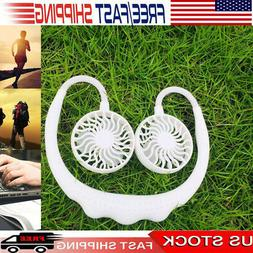 Home Office USB Rechargeable Wearable Fans Sports Dual-Head